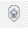 insurance concept linear icon isolated on vector image