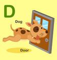 Isolated animal alphabet letter d-dog door