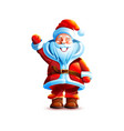isolated character santa vector image