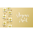 joyeux noel merry christmas golden french vector image vector image