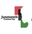 juneteenth june 19 holiday concept template vector image vector image