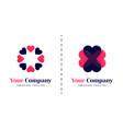 love logo with theme 8 rotating hearts