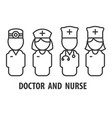 male doctor and nurse vector image vector image