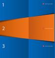 modern orange blue design template vector image vector image