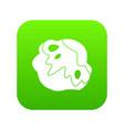 moon stone icon digital green vector image