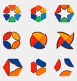 Nine logos vector image vector image