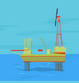 oil and gas offshore industry with stationary vector image vector image