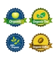 Organic food icons vector image vector image