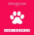 paw - halftone logo graphic elements for your vector image