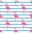 pink flamingos seamless pattern vector image vector image