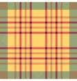Plaid seamless tartan pattern Twill texture vector image
