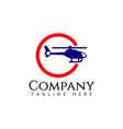 plane company logo template design vector image vector image