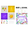 realistic school time infographic concept vector image vector image