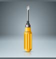 realistic screw yellow icon vector image