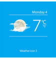 Realistic weather icon moon with clouds vector image