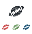 Rugby ball grunge icon set vector image vector image