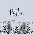 Rustic design with flowers and branches decoration vector image