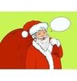 Santa Claus retro halftone vector image