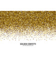 scattered golden confetti white background vector image vector image
