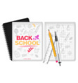 school supplies realistic calculator note vector image vector image