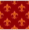 Seamless fleur de lys royal orange pattern vector image vector image