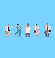 set male female doctors in uniform mix race vector image