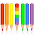 Set of colored pencil a rainbow pencil near vector image