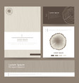 Set of corporate business card folder banner Eco vector image vector image