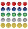 set of seals vector image vector image