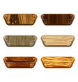 Set of wooden boards vector image