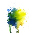 Spot watercolor art hand paint isolated vector image vector image