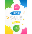 super sale vertical banner template design with vector image vector image