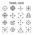 target aim icon set in thin line style vector image vector image