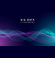 visualization big data banner realistic style vector image