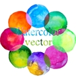 watercolor colorful circle set vector image