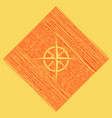 wind rose sign red scribble icon obtained vector image