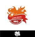 Grill barbecue fire icon vector image