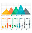 infographic elements - bar and triangle chart vector image