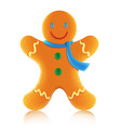 gingerbread man cookie vector image