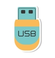 usb storage device isolated icon vector image
