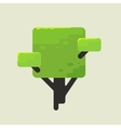 a square tree with green foliage vector image vector image