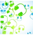 Abstract background headphones vector image