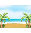 an ocean and a beach vector image vector image