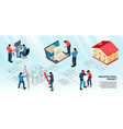 architectural project isometric infographics vector image vector image