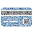 bank card composition of dots vector image