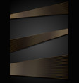 black abstract corporate background with bronze vector image vector image