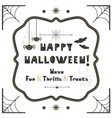 black and golden abstract cute happy halloween vector image