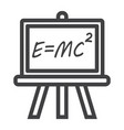 blackboard line icon chalkboard and school vector image