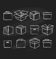 boxes on chalk board vector image vector image