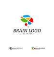 brain logo template brain logo concepts vector image vector image